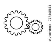 gears machine isolated icon | Shutterstock .eps vector #737865886
