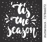 tis the season   hand drawn... | Shutterstock .eps vector #737866072