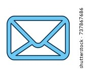 mail envelope isolated icon | Shutterstock .eps vector #737867686