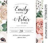 floral wedding invitation... | Shutterstock .eps vector #737868295