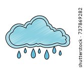 cloud sky rainy icon | Shutterstock .eps vector #737869282