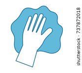 hand wiping with glove | Shutterstock .eps vector #737872018