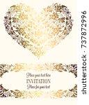 intricate baroque luxury... | Shutterstock .eps vector #737872996