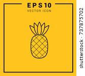 a pineapple icon vector. web.... | Shutterstock .eps vector #737875702