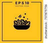 salad. healthy eating vector... | Shutterstock .eps vector #737875756