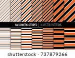 halloween stripes vector...   Shutterstock .eps vector #737879266