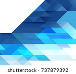 abstract blue tone geometric... | Shutterstock .eps vector #737879392