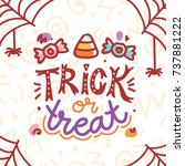 cute picture for halloween...   Shutterstock .eps vector #737881222