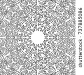 zentangle. black and white... | Shutterstock .eps vector #737885086