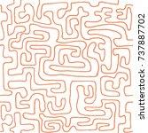crazy cartoon pattern. seamless ...   Shutterstock .eps vector #737887702