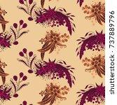 modern zendoodle rapport....   Shutterstock .eps vector #737889796