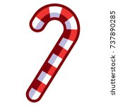 vector cartoon candy cane...   Shutterstock .eps vector #737890285