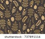 seamless vector floral pattern...   Shutterstock .eps vector #737891116