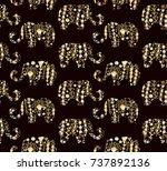 seamless vector floral pattern...   Shutterstock .eps vector #737892136
