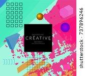 minimal universal banner...   Shutterstock .eps vector #737896246