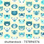 seamless vector pattern with...   Shutterstock .eps vector #737896576