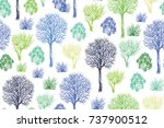 seamless vector pattern with...   Shutterstock .eps vector #737900512
