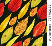 autumn pattern with leaves   Shutterstock .eps vector #737902132