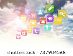 composite 3d image of colourful ... | Shutterstock . vector #737904568