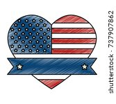 united states of america with... | Shutterstock .eps vector #737907862