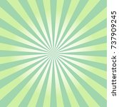 abstract green sun rays icon....   Shutterstock .eps vector #737909245