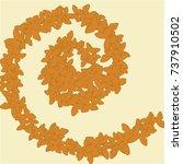 vector confetti background...   Shutterstock .eps vector #737910502