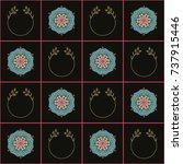 seamless geometrical pattern...   Shutterstock .eps vector #737915446