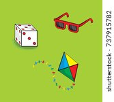 Cartoon Of Glasses  Dice And...