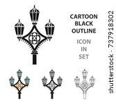 street light icon in cartoon... | Shutterstock .eps vector #737918302