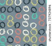 pattern of circles hand drawn... | Shutterstock .eps vector #737924896
