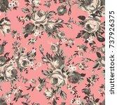 shabby chic or granny chic...   Shutterstock .eps vector #737926375