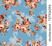 shabby chic or granny chic...   Shutterstock .eps vector #737926396