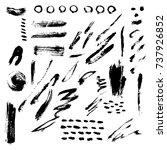 different grunge brush strokes... | Shutterstock .eps vector #737926852