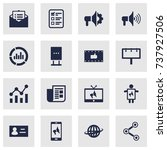 set of 16 commercial icons set... | Shutterstock .eps vector #737927506