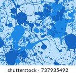 seamless paint splatter pattern ...   Shutterstock .eps vector #737935492