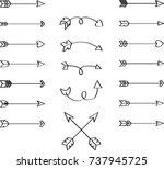 arrows outline hand sketch... | Shutterstock .eps vector #737945725