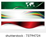 banners for web  vector... | Shutterstock .eps vector #73794724