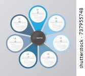 circle infographic template... | Shutterstock .eps vector #737955748