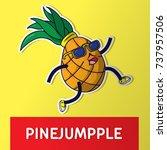 pineapple. cartoon vector... | Shutterstock .eps vector #737957506