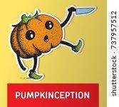 halloween pumpkin. cartoon... | Shutterstock .eps vector #737957512