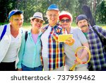 senior people in a park | Shutterstock . vector #737959462