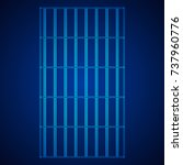 wireframe prison bars . cage... | Shutterstock .eps vector #737960776
