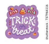halloween party. cute... | Shutterstock .eps vector #737966116