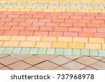 brick sidewalks background | Shutterstock . vector #737968978