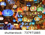 a bunch of turkish lamps at one ... | Shutterstock . vector #737971885
