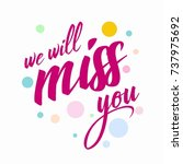 farewell card. all the best... | Shutterstock .eps vector #737975692