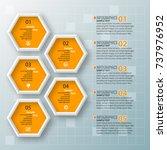 vector abstract 3d paper... | Shutterstock .eps vector #737976952