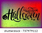 vector halloween typography... | Shutterstock .eps vector #737979112