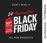 50  off black friday super sale ... | Shutterstock .eps vector #737980696