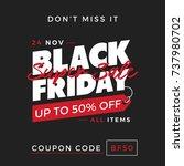 50  off black friday super sale ... | Shutterstock .eps vector #737980702